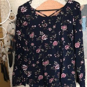 Faded Glory top xl floral